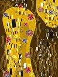 Klimt geïnspireerd8 abstract art. Stock Afbeelding