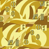 Klimt inspired geometrical seamless pattern. With wave ornament royalty free illustration