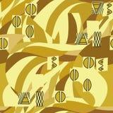 Klimt inspired geometrical seamless pattern Stock Photos