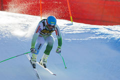 Kline Bostjan στο αλπικό Παγκόσμιο Κύπελλο σκι Audi FIS - ατόμων προς τα κάτω Στοκ φωτογραφία με δικαίωμα ελεύθερης χρήσης