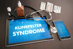 Klinefelter syndrome (endocrine disease) diagnosis medical conce Stock Photography