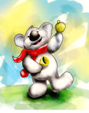 klingar koalaen Arkivfoto