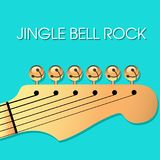 Klingelglocken-Felsen Weihnachtshintergrund mit Glocken Lizenzfreies Stockfoto