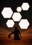 Klingeln pong Hintergrund Stockfoto