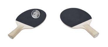 Klingeln Pong Paddel mit einer Kugel für eine Kugel Lizenzfreies Stockbild