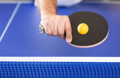 Klingeln pong Spieler lizenzfreies stockfoto