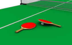 Klingeln pong Tabelle Stockbild