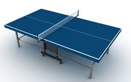 Klingeln pong Tabelle auf Weiß Lizenzfreie Stockbilder
