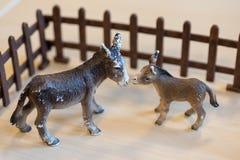 Klingerytów zabawkarscy zwierzęta gospodarskie w preschool obraz stock