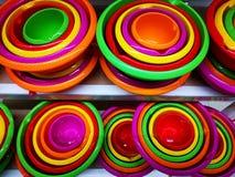 Klingerytów naczynia - różni rozmiary i kolory obrazy stock