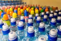 Klingeryt butelki z wodą mineralną Zdjęcia Stock