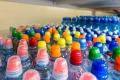 Klingeryt butelki z wodą mineralną Zdjęcie Stock