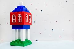 Klingeryt zabawki dom fotografia stock