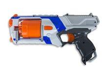 Klingeryt zabawki pistolet odizolowywający na bielu Zdjęcie Royalty Free