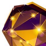 Klingerytu zbożowy łasy z kolorowym 3d geometrycznym szablonem Zdjęcie Royalty Free