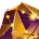 Klingerytu zbożowy łasy z kolorowym dimensional geometrycznym szablonem, Zdjęcia Royalty Free