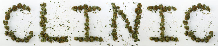 Klinik som stavas med marijuana Royaltyfri Foto