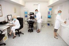 kliniken doctors oftalmologi royaltyfri foto