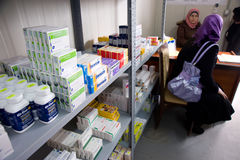 kliniki palestyńczyka kobieta Obrazy Royalty Free