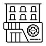 Klinikvektorsymbol royaltyfri illustrationer