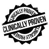 Klinisch nachgewiesener Stempel lizenzfreies stockbild