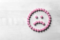 Klinische depressie, geestelijke ziekte en wanorde of slechte gezondheid royalty-vrije stock afbeelding