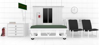 klinischer Raum 3d Stockbild