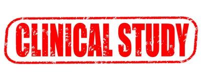 Klinischer Studienstempel auf weißem Hintergrund lizenzfreies stockbild