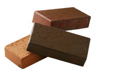 Klinker bricks. Isolated on a white background Royalty Free Stock Images