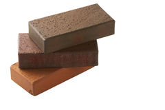 Klinker bricks. Isolated on a white background Stock Images
