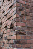 Klinker or Clinker brick corner Stock Photography