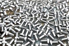 Klinknagels op roestig geschilderd metaal - mooie industriële 3D illustratie, beeld voor ontwerp het gebruiken vector illustratie