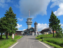 Klinovec, the highest hill of Ore mountains (Czech Republic) Stock Photography