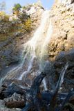 Klinserfall waterfall in totes gebirge mountains Stock Image
