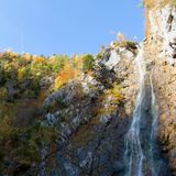 Klinserfall waterfall in totes gebirge mountains Royalty Free Stock Photography