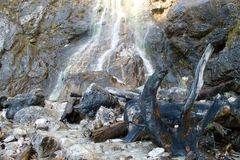 Klinserfall waterfall in totes gebirge mountains Stock Photography
