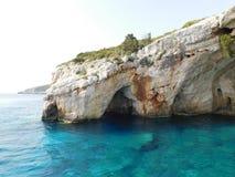 Klip op de kust van het eiland van Zakynthos, Griekenland stock fotografie