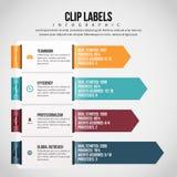 Klipp-Aufkleber Infographic Lizenzfreies Stockfoto
