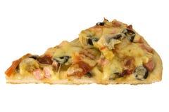 klipp av pizzaskivan royaltyfria foton