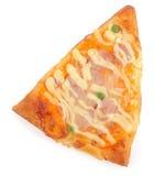 klipp av pizzaskivan Arkivfoton