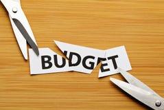 Klipp budgeten Arkivfoto