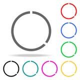 klipp cirkelrengöringsduksymbolen Beståndsdelar i mång- kulöra symboler för mobila begrepps- och rengöringsdukapps Symboler för w Arkivbilder