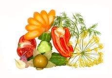 klipp dekorativa nya övre grönsaker Arkivfoto
