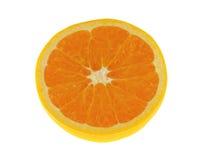 klipp den half orange tabellen Royaltyfri Fotografi
