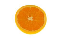 klipp den half orange tabellen Fotografering för Bildbyråer