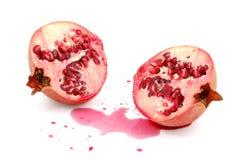 klipp den half pomegranaten Royaltyfri Foto