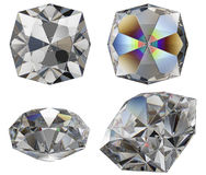 klipp den isolerade diamantgemen Royaltyfri Foto