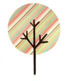 klipp den mång- ut görade randig treen arkivfoto