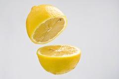 klipp den naturliga nya citronen Royaltyfria Foton