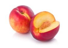 klipp den nya frukter isolerade persikan Arkivfoto